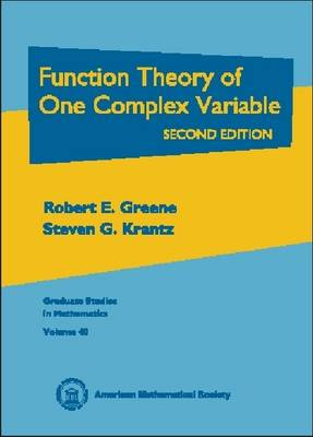 Function Theory of One Complex Variable - Graduate Studies in Mathematics No.40 (Hardback)