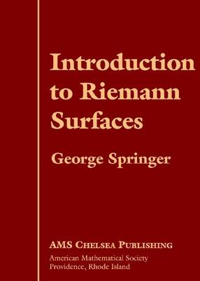 Introduction to Riemann Surfaces - AMS Chelsea Publishing (Hardback)