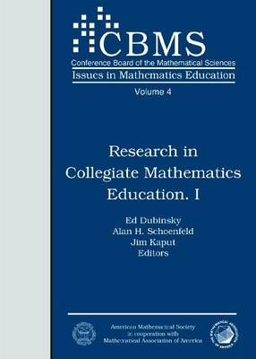 Research in Collegiate Mathematics Education I - CBMS Issues in Mathematics Education (Paperback)