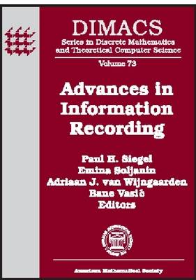 Advances in Information Recording - DIMACS: Series in Discrete Mathematics and Theoretical Computer Science (Hardback)