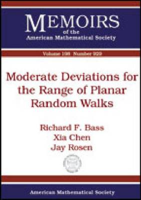 Moderate Deviations for the Range of Planar Random Walks - Memoirs of the American Mathematical Society (Paperback)