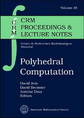 Polyhedral Computation - CRM Proceedings & Lecture Notes (Paperback)