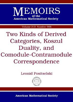 Two Kinds of Derived Categories, Koszul Duality, and Comodule-Contramodule Correspondence - Memoirs of the American Mathematical Society (Paperback)