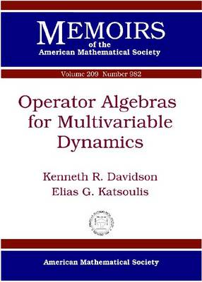 Operator Algebras for Multivariable Dynamics - Memoirs of the American Mathematical Society (Paperback)