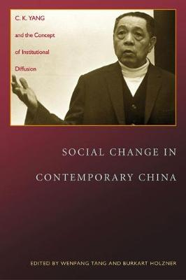 Social Change in Contemporary China: C. K. Yang and the Concept of Institutional Diffusion (Hardback)