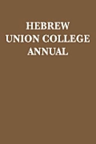 Hebrew Union College Annual Volume 87 - Hebrew Union College Annual 87 (Hardback)