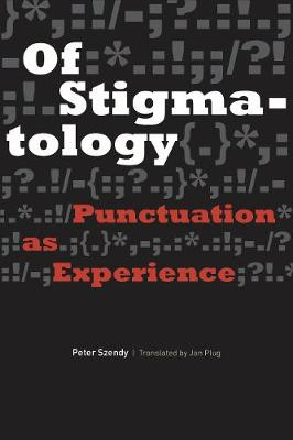 Cover Of Stigmatology: Punctuation as Experience - Verbal Arts: Studies in Poetics
