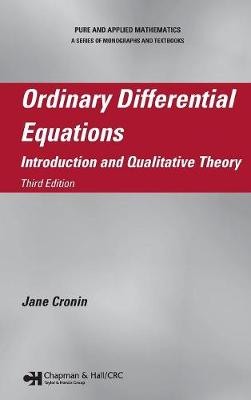 Ordinary Differential Equations: Introduction and Qualitative Theory, Third Edition - Chapman & Hall/CRC Pure and Applied Mathematics (Hardback)