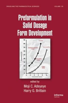 Preformulation in Solid Dosage Form Development - Drugs and the Pharmaceutical Sciences (Hardback)