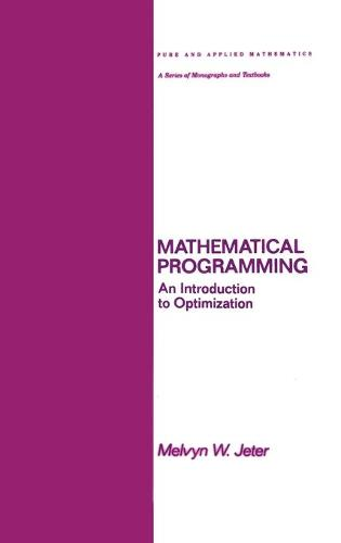 Mathematical Programming: An Introduction to Optimization - Chapman & Hall/CRC Pure and Applied Mathematics 102 (Hardback)
