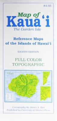 Map of Kauai the Garden Isle: Reference Maps of the Islands of Hawaii (Paperback)
