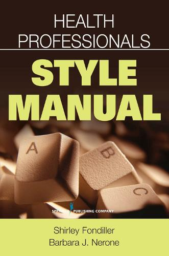 Health Professionals Style Manual (Paperback)