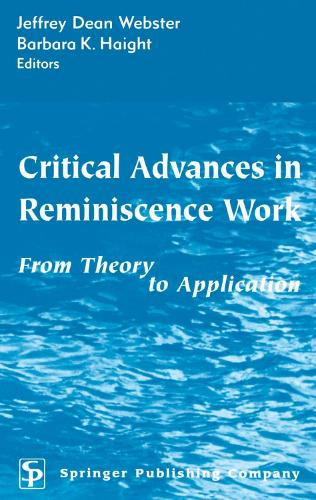 Critical Advances in Reminiscence Work: From Theory to Application (Hardback)
