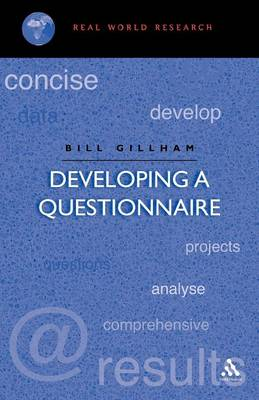 Developing a Questionnaire - Real world research (Paperback)