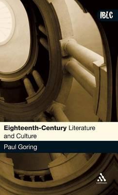 Eighteenth-century Literature and Culture - Introductions to British Literature and Culture S. (Hardback)
