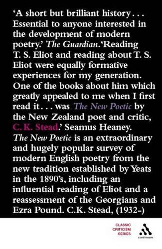 The New Poetic: Yeats to Eliot - Continuum Impacts (Paperback)