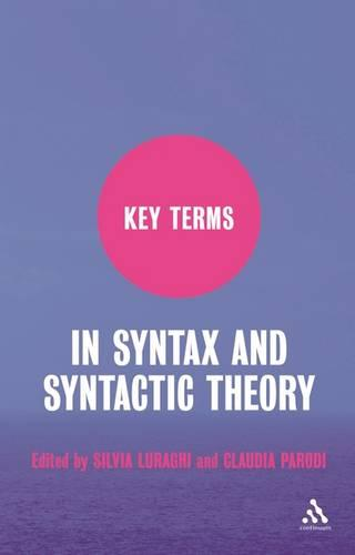 Key Terms in Syntax and Syntactic Theory - Key Terms (Paperback)