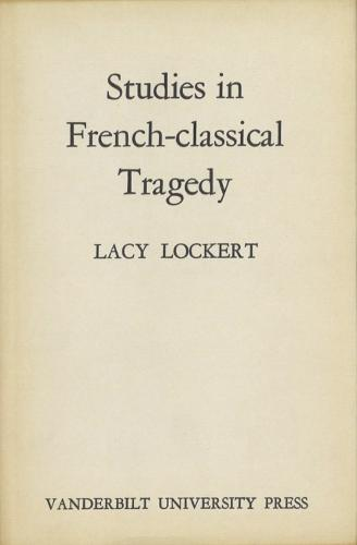 Studies in French-Classical Tragedy (Hardback)