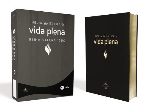 RVR 1960 Biblia De Estudio Vida Plena, Piel Especial, Negro (Leather / fine binding)