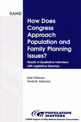 How Does Congress Approach Population and Family Planning Issues? (Paperback)