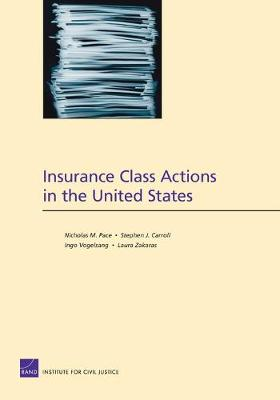 Insurance Class Actions in the United States (Paperback)