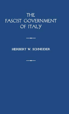 Fascist Government of Italy (Hardback)