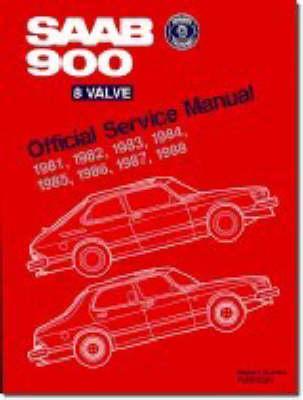 Saab 900 8-valve Official Service Manual 1981-88 (Paperback)
