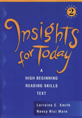 Insights for Today: A High Beginning Reading Skills Text (Paperback)