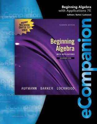 eCompanion for Aufmann/Lockwood's Beginning Algebra, 1st (Paperback)
