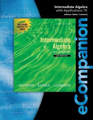 eCompanion for Aufmann/Lockwood's Intermediate Algebra (Paperback)