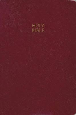 KJV, End-of-Verse Reference Bible, Giant Print, Leathersoft, Burgundy, Red Letter Edition (Paperback)
