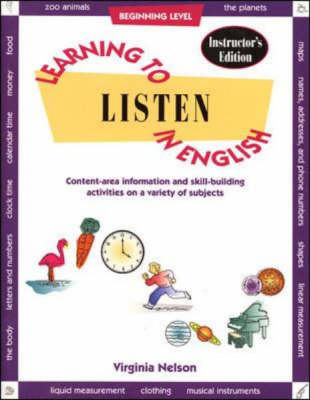 Learning to Listen to English: Beginning Level (Paperback)