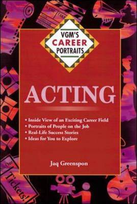 Acting - VGM's Career Portraits (Hardback)
