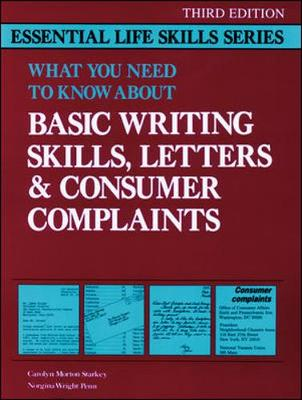 Basic Writing Skills, Letters & Consumer Complaints (Paperback)
