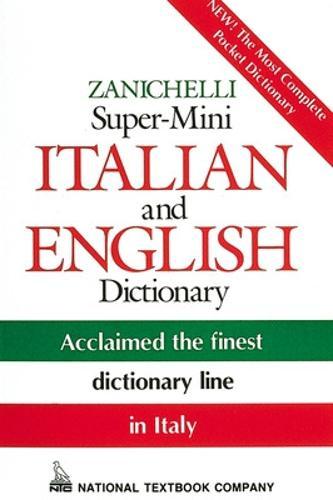 Zanichelli Super-Mini Italian and English Dictionary (Paperback)