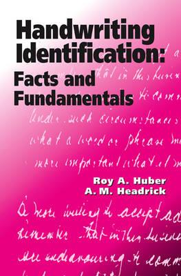 Handwriting Identification: Facts and Fundamentals (Hardback)