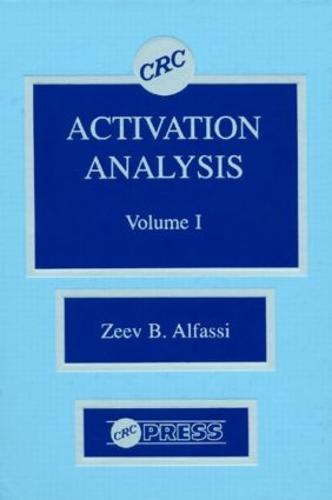 Activation Analysis, Volume I (Hardback)