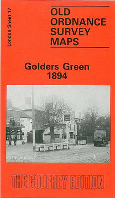 Golders Green 1894: London Sheet 017.2 - Old O.S. Maps of London (Sheet map, folded)