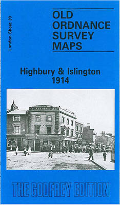 Highbury and Islington 1914: London Sheet 039.3 - Old Ordnance Survey Maps of London (Sheet map, folded)