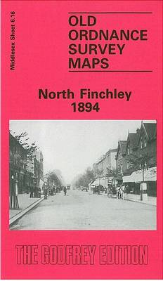 North Finchley 1894: Middlesex Sheet  06.16a - Old O.S. Maps of Middlesex (Sheet map, folded)