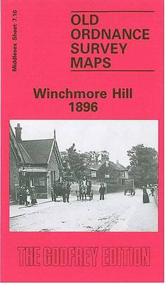 Winchmore Hill 1896: Middlesex Sheet  07.10 - Old O.S. Maps of Middlesex (Sheet map, folded)