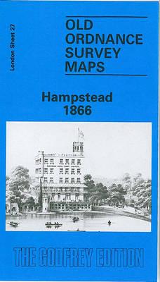 Hampstead 1866: London Sheet   027.1 - Old O.S. Maps of London (Sheet map, folded)