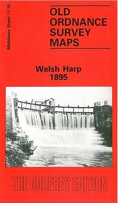 Welsh Harp 1895: Middlesex Sheet  11.10 - Old O.S. Maps of Middlesex (Sheet map, folded)
