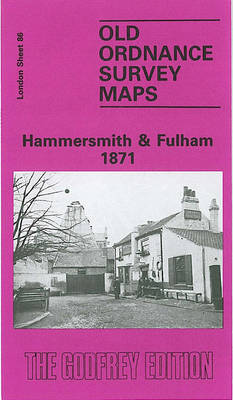 Hammersmith and Fulham 1871: London Sheet 086.1 - Old O.S. Maps of London (Sheet map, folded)