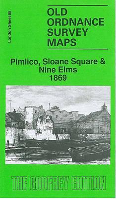 Pimlico, Sloane Square and Nine Elms 1869: London Sheet 088.1 - Old O.S. Maps of London (Sheet map, folded)