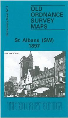 St.Albans (South West) 1897: Hertfordshire Sheet 34.11 - Old O.S. Maps of Hertfordshire (Sheet map, folded)