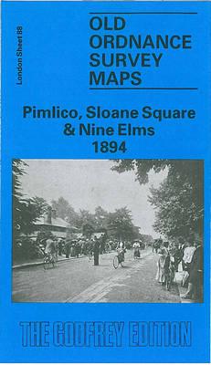 Pimlico, Sloane Square and Nine Elms 1894: London Sheet 088.2 - Old O.S. Maps of London (Sheet map, folded)