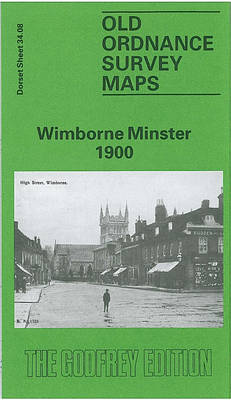 Wimborne Minster 1900: Dorset Sheet 34.08 - Old O.S. Maps of Dorset (Sheet map, folded)