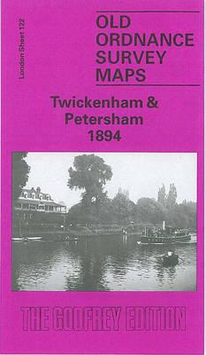 Twickenham and Petersham 1894: London Sheet 122 - Old O.S. Maps of London (Sheet map, folded)