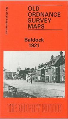 Baldock 1921: Hertfordshire Sheet 7.08 - Old O.S. Maps of Hertfordshire (Sheet map, folded)